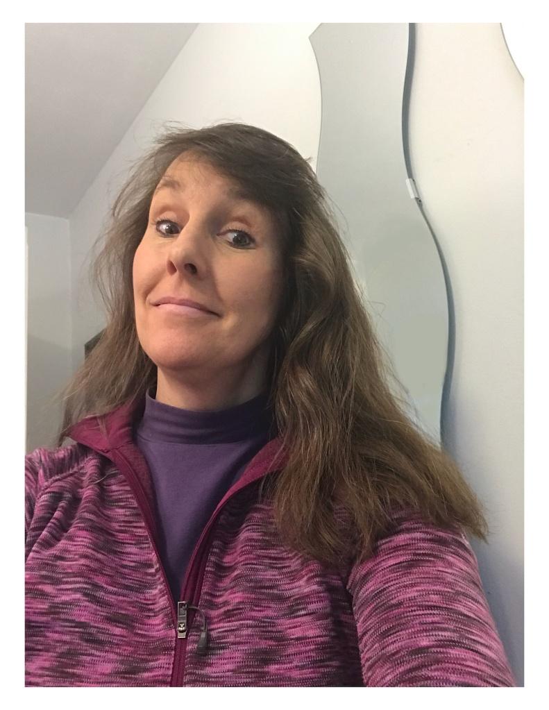 White woman long hair photo