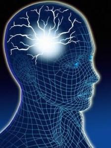 sparks inside illustration of head
